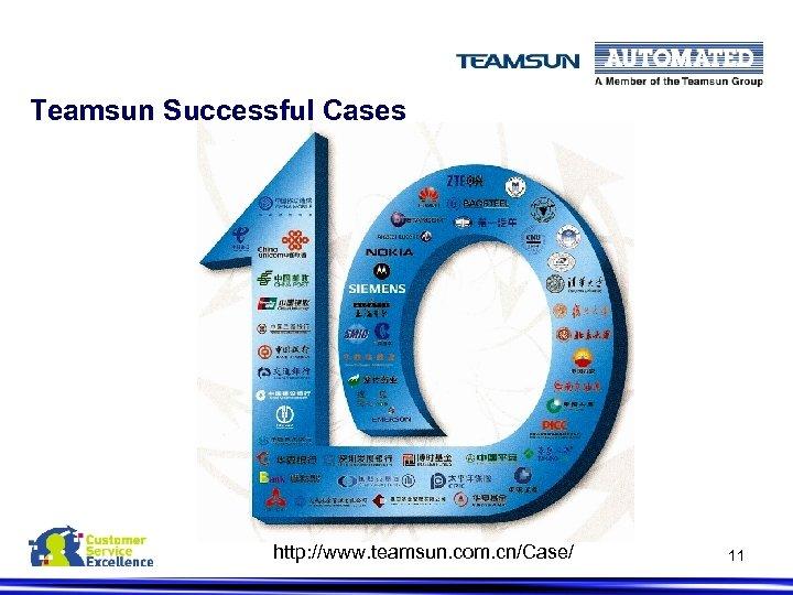 Teamsun Successful Cases http: //www. teamsun. com. cn/Case/ 11