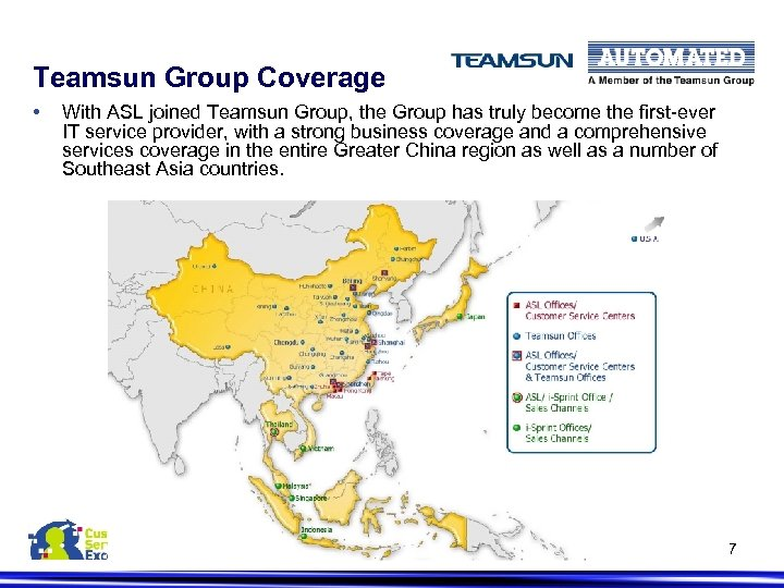 Teamsun Group Coverage • With ASL joined Teamsun Group, the Group has truly become
