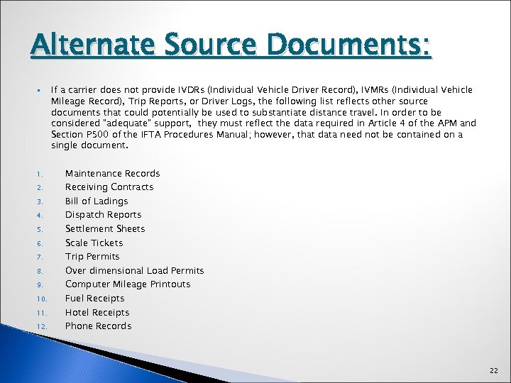 Alternate Source Documents: § 1. 2. 3. 4. 5. 6. 7. 8. 9. 10.
