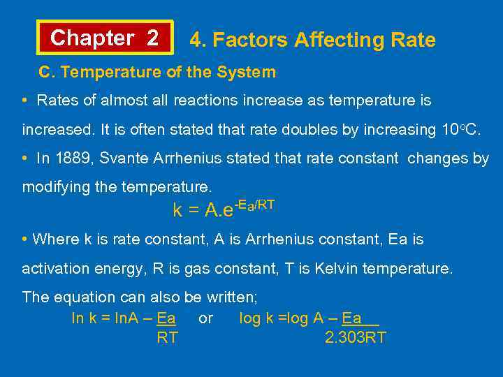 rate doubles activation energy