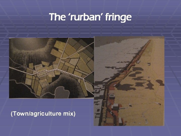 The 'rurban' fringe (Town/agriculture mix)