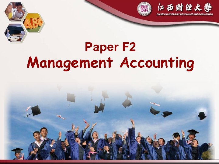Paper F 2 Management Accounting 2018/3/19 1