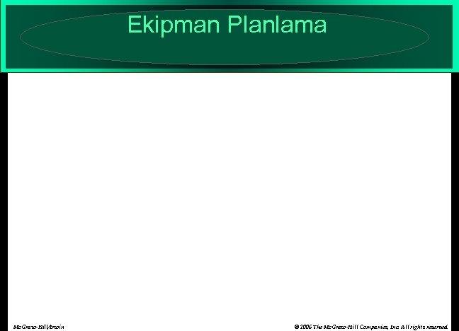 Ekipman Planlama Mc. Graw-Hill/Irwin © 2006 The Mc. Graw-Hill Companies, Inc. All rights reserved.