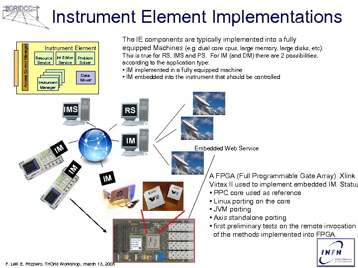 Access Control Manager Instrument Element Implementations The IE components are typically implemented into a