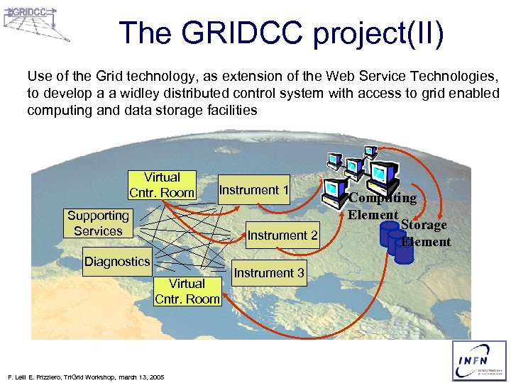 The GRIDCC project(II) Use of the Grid technology, as extension of the Web Service
