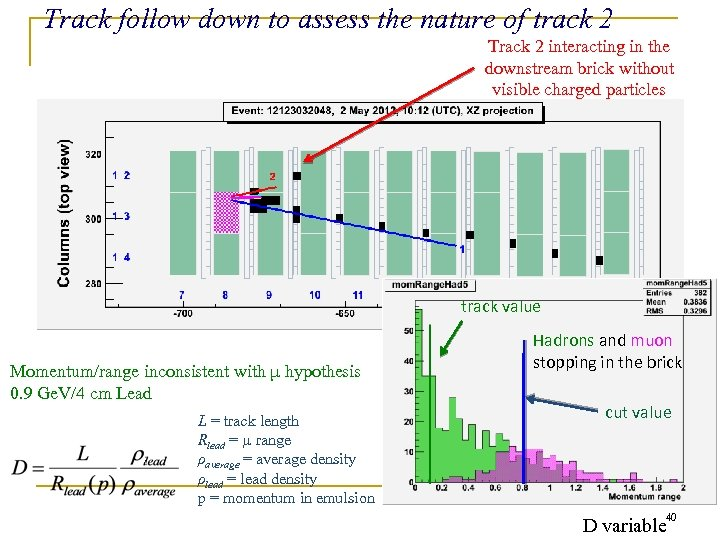 Track follow down to assess the nature of track 2 Track 2 interacting in