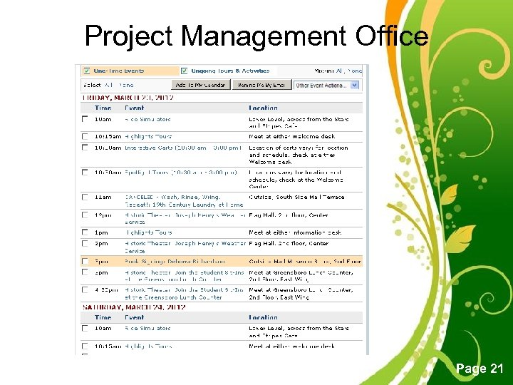 Project Management Office Free Powerpoint Templates Page 21