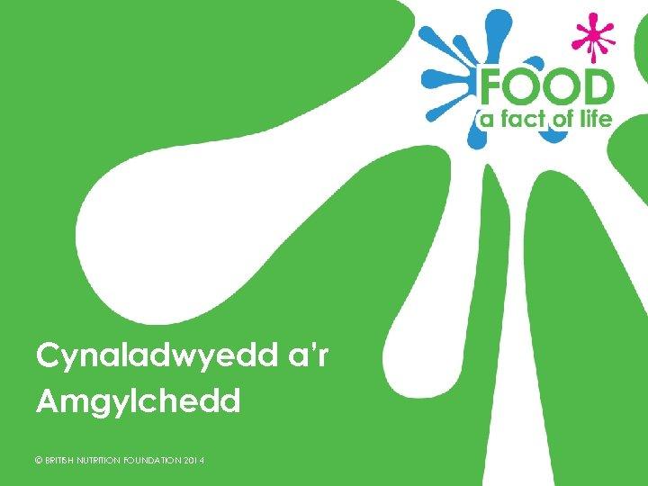 Cynaladwyedd a'r Amgylchedd © BRITISH NUTRITION FOUNDATION 2014