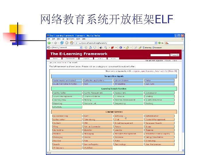 网络教育系统开放框架ELF