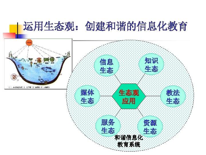 运用生态观:创建和谐的信息化教育 知识 生态 信息 生态 媒体 生态 教法 生态 生态观 应用 服务 生态 资源