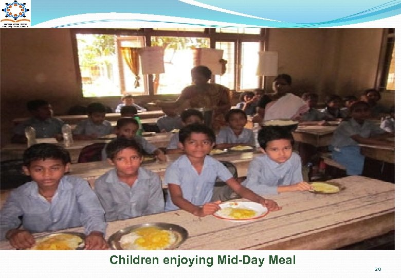 Children enjoying Mid-Day Meal 20