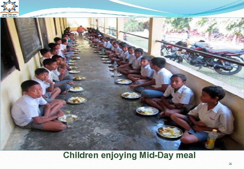 Children enjoying Mid-Day meal 21