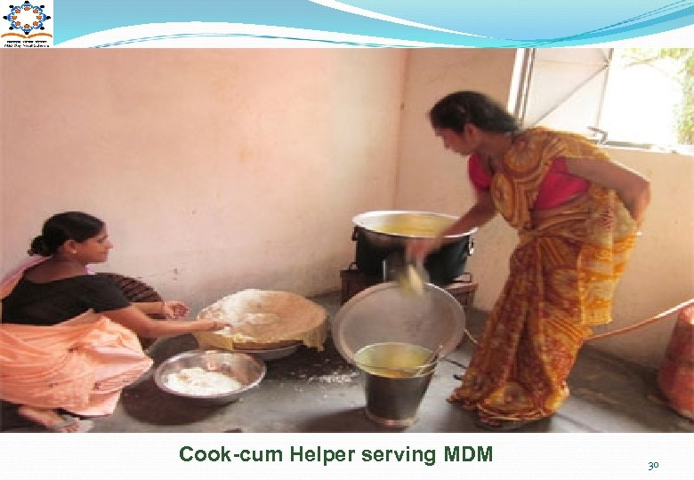 Cook-cum Helper serving MDM 30