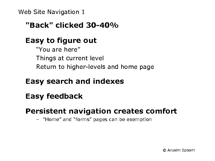 Web Site Navigation 1