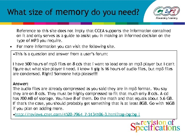 What size of memory do you need? • Reference to this site does not