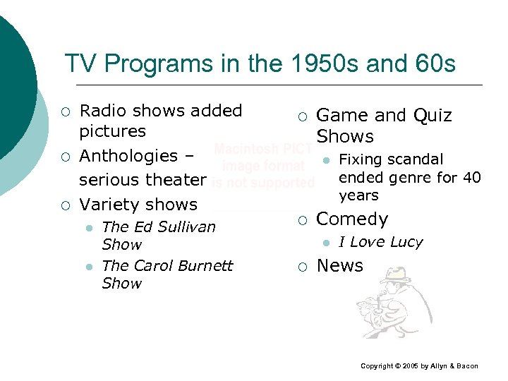 TV Programs in the 1950 s and 60 s ¡ ¡ ¡ Radio shows