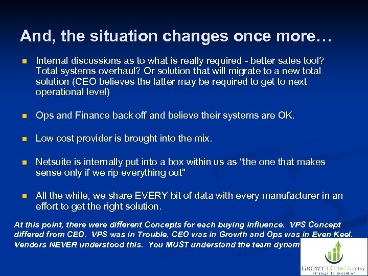 And, the situation changes once more… n Internal discussions as to what is really