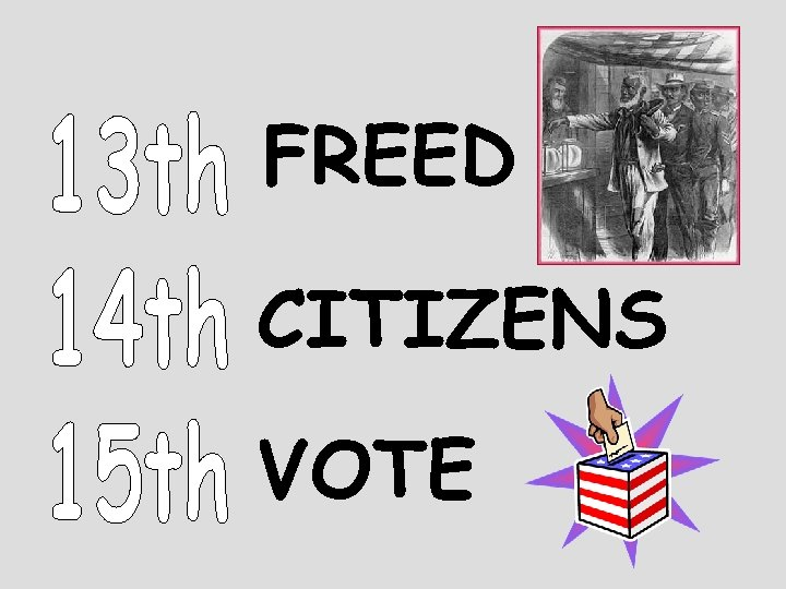 FREED CITIZENS VOTE