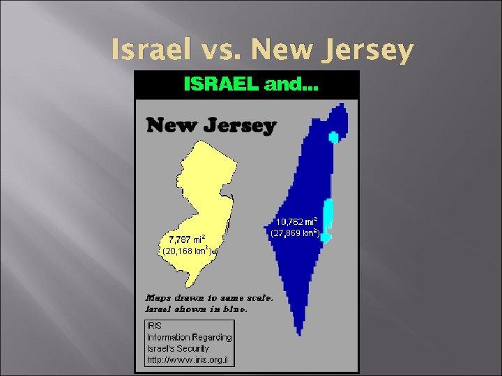 Israel vs. New Jersey