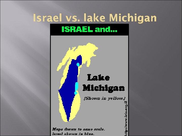 Israel vs. lake Michigan