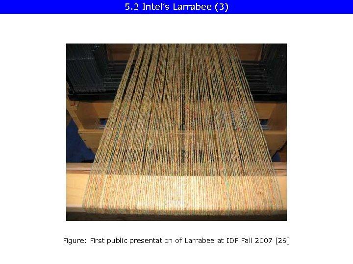 5. 2 Intel's Larrabee (3) Figure: First public presentation of Larrabee at IDF Fall