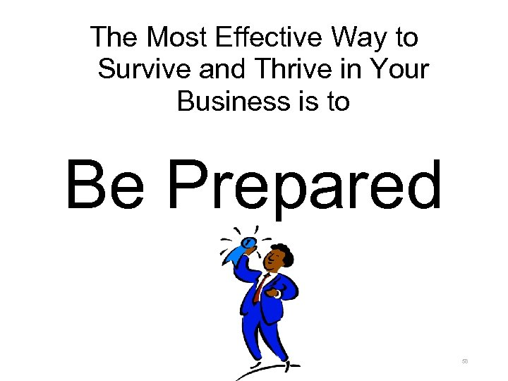 The Most Effective Way to Survive and Thrive in Your Business is to Be