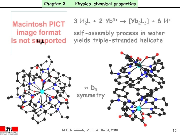 Chapter 2 Physico-chemical properties 3 H 2 L + 2 Yb 3+ ® [Yb