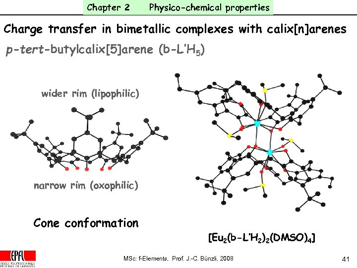 Chapter 2 Physico-chemical properties Charge transfer in bimetallic complexes with calix[n]arenes p-tert-butylcalix[5]arene (b-L'H 5)
