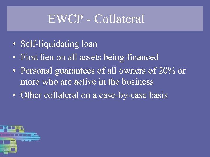 Self-liquidating assets