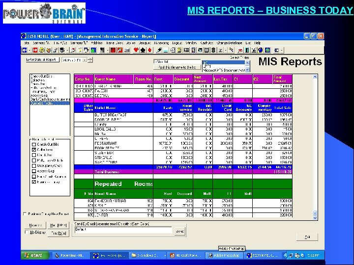 MIS REPORTS – BUSINESS TODAY