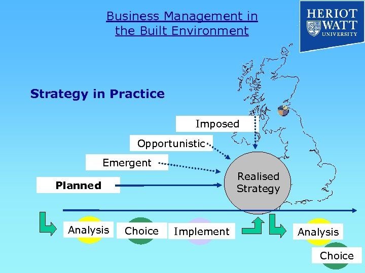 Business Management in the Built Environment Strategy in Practice Imposed Opportunistic Emergent Realised Strategy