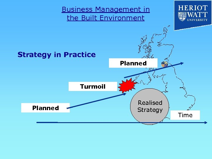 Business Management in the Built Environment Strategy in Practice Planned Turmoil Planned Realised Strategy
