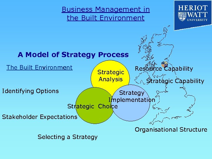 Business Management in the Built Environment A Model of Strategy Process The Built Environment