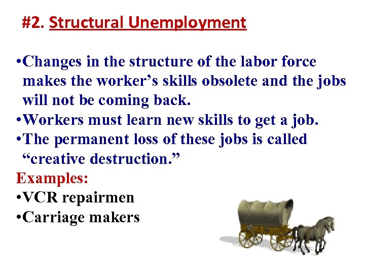 #2. Structural Unemployment • Changes in the structure of the labor force makes the