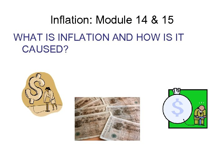 Inflation: Module 14 & 15 WHAT IS INFLATION AND HOW IS IT CAUSED?