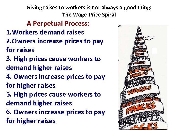 Giving raises to workers is not always a good thing: The Wage-Price Spiral A