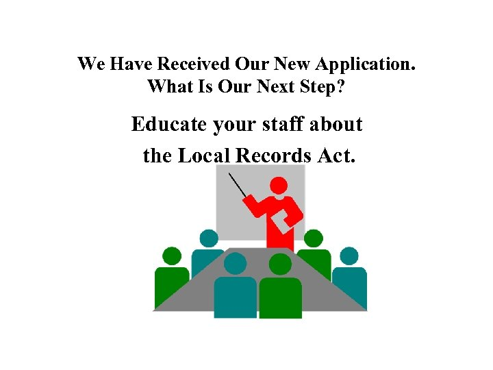 We Have Received Our New Application. What Is Our Next Step? Educate your staff