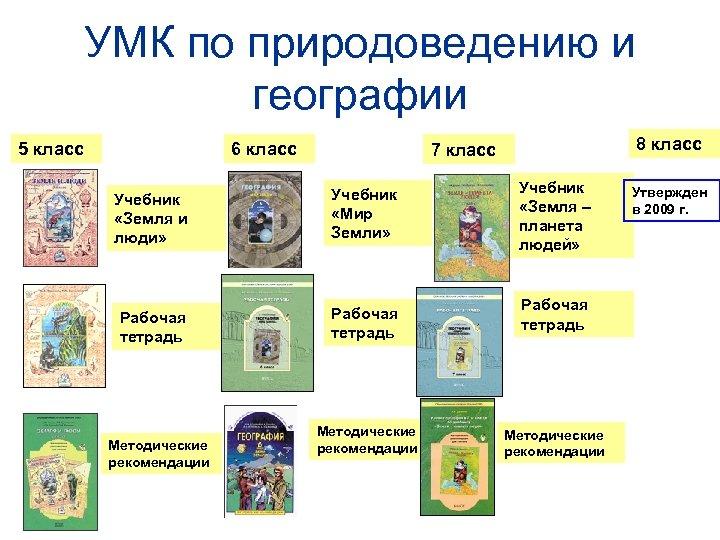 УМК по природоведению и географии 5 класс 6 класс Учебник «Земля и люди» Учебник