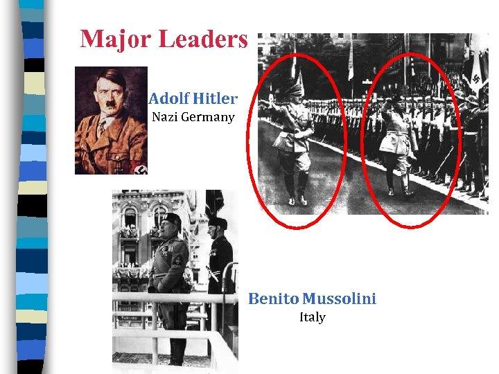Major Leaders Adolf Hitler Nazi Germany Benito Mussolini Italy 8
