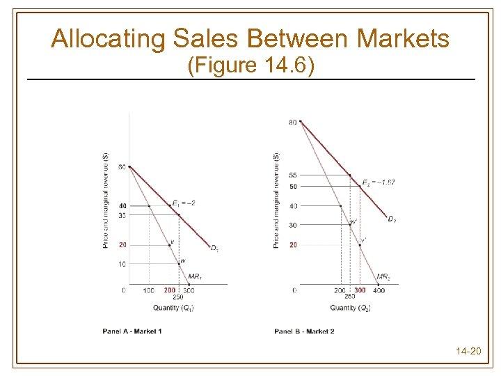 Allocating Sales Between Markets (Figure 14. 6) 14 -20