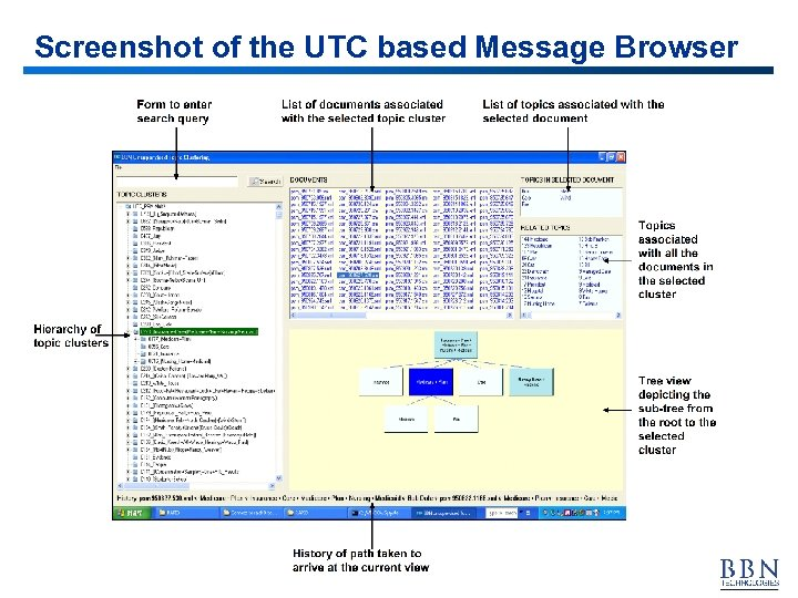 Screenshot of the UTC based Message Browser 34