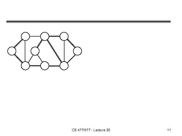 CS 477/677 - Lecture 20 11