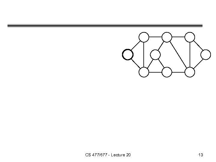 CS 477/677 - Lecture 20 13