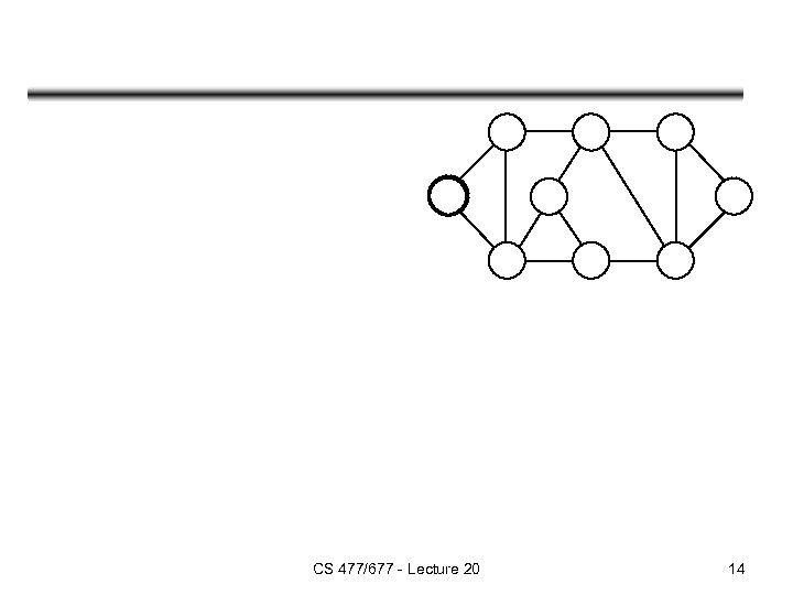 CS 477/677 - Lecture 20 14