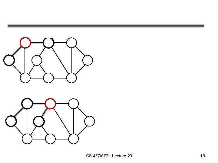 CS 477/677 - Lecture 20 16