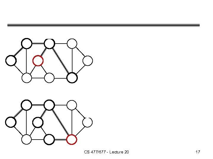 CS 477/677 - Lecture 20 17