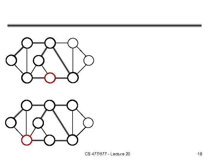 CS 477/677 - Lecture 20 18