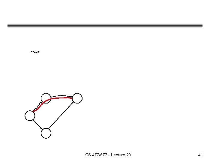 CS 477/677 - Lecture 20 41
