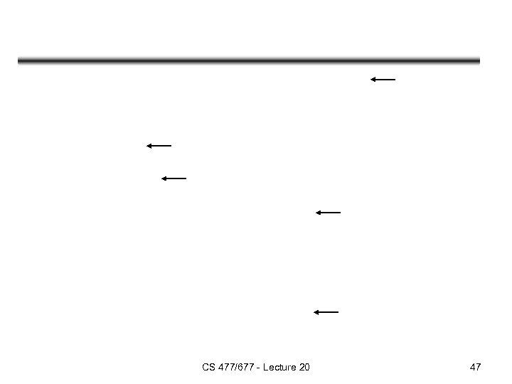 CS 477/677 - Lecture 20 47
