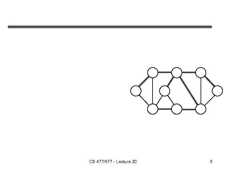 CS 477/677 - Lecture 20 5